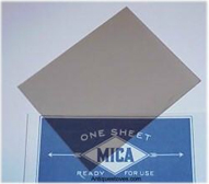 Mica Sheet clear, stove mica